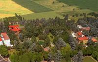 Terme di Monticelli - Vista dall'alto del parco secolare