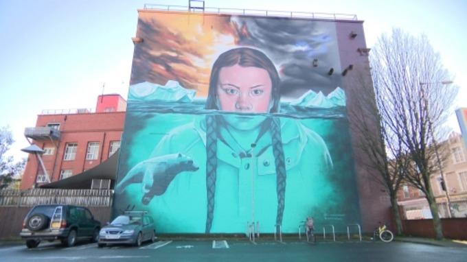 Greta Thumberg Murale a Bristol