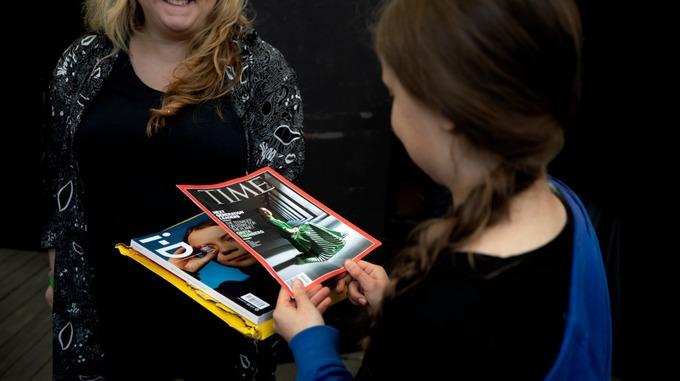Greta Thumberg in copertina su Time